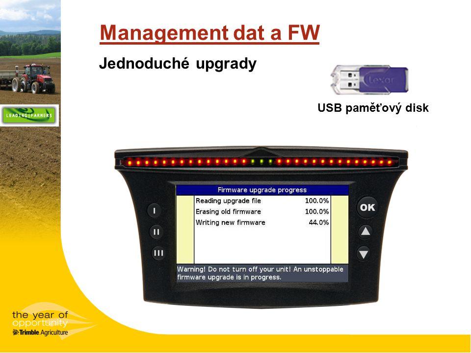 Management dat a FW Jednoduché upgrady USB paměťový disk
