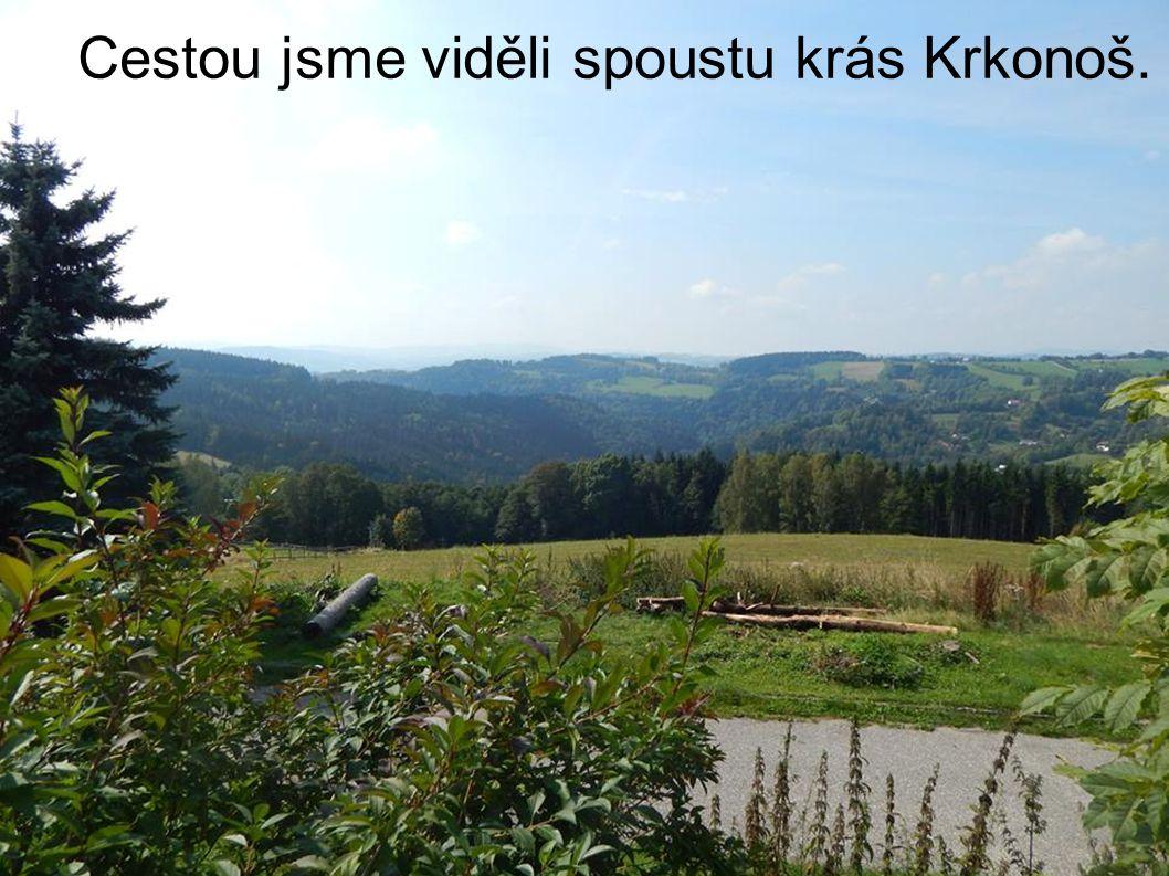 Cestou jsme viděli spoustu krás Krkonoš.