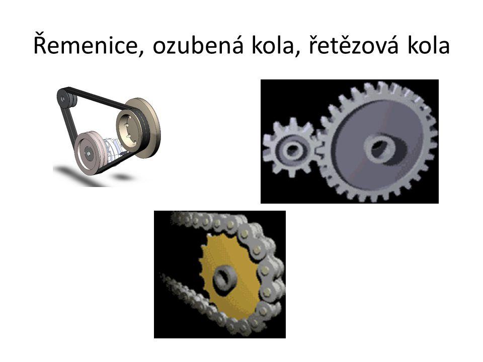 Řemenice, ozubená kola, řetězová kola