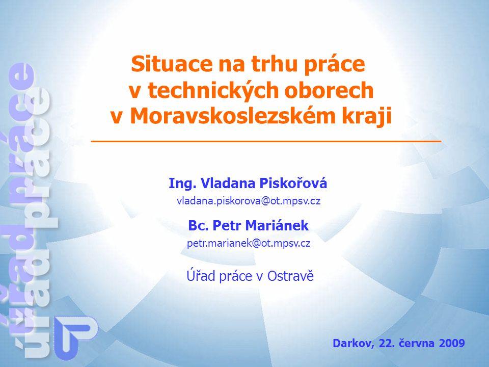Situace na trhu práce v technických oborech v Moravskoslezském kraji