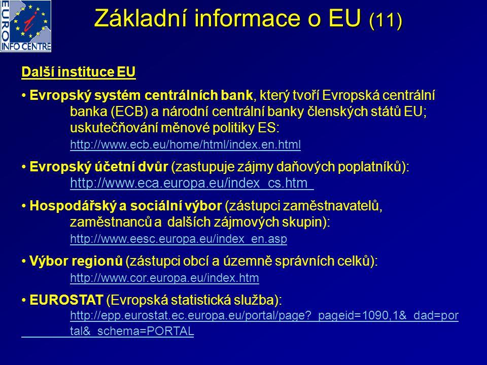 Základní informace o EU (11)