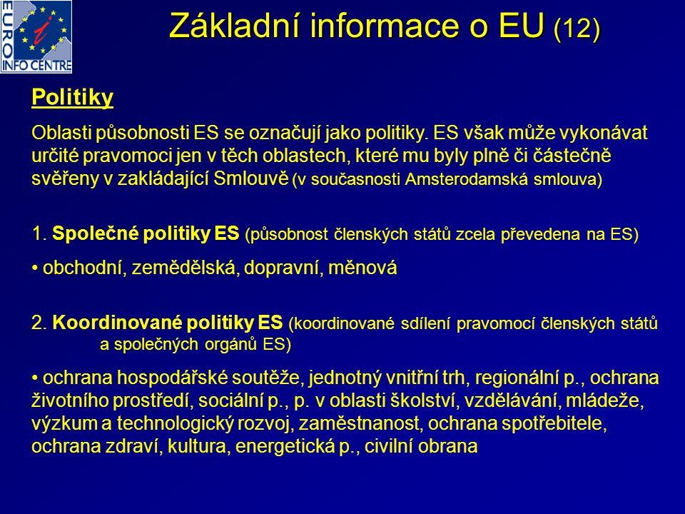 Základní informace o EU (12)
