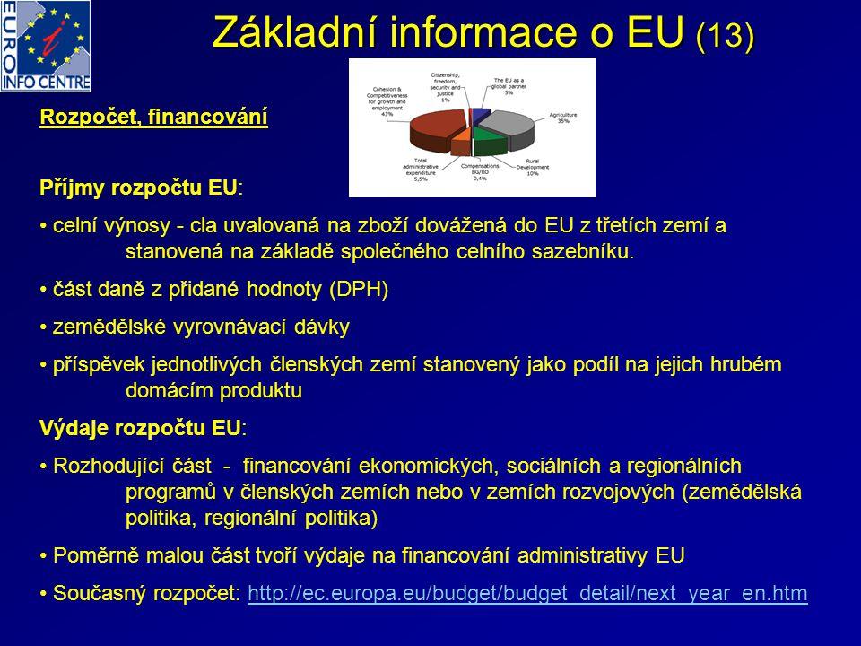 Základní informace o EU (13)
