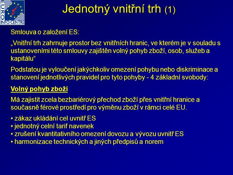 Jednotný vnitřní trh (1)