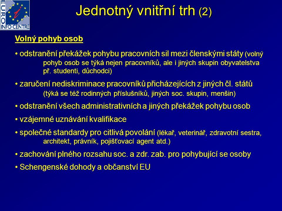 Jednotný vnitřní trh (2)