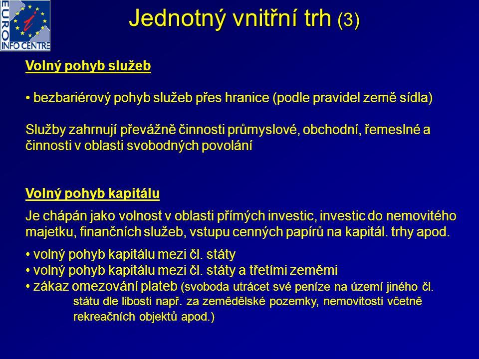 Jednotný vnitřní trh (3)
