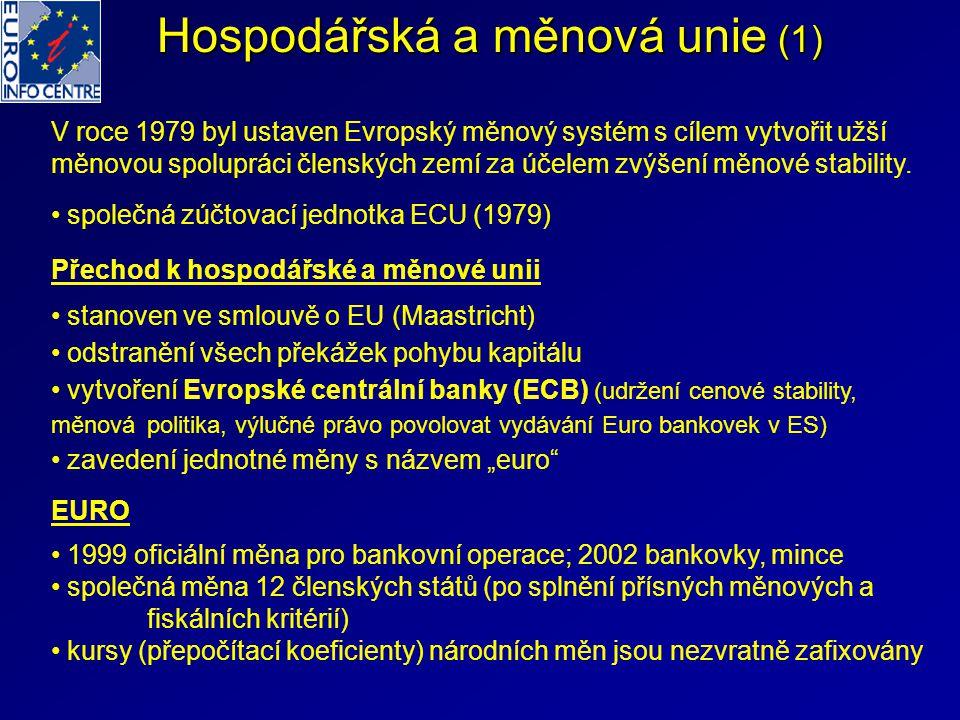 Hospodářská a měnová unie (1)