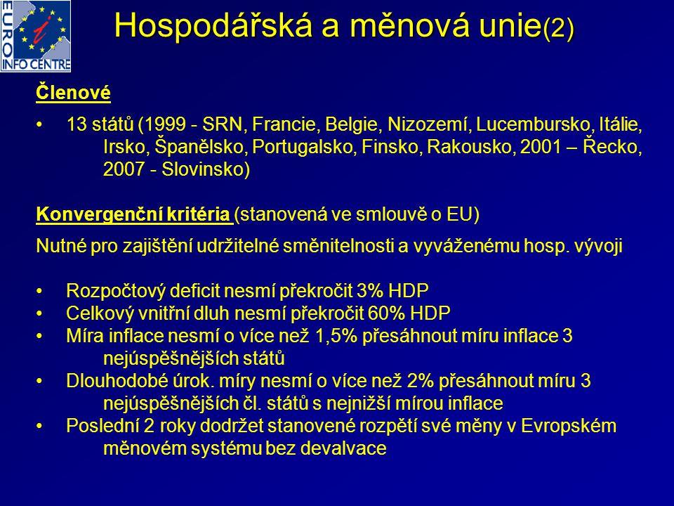 Hospodářská a měnová unie(2)