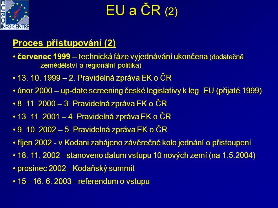 EU a ČR (2) Proces přistupování (2)