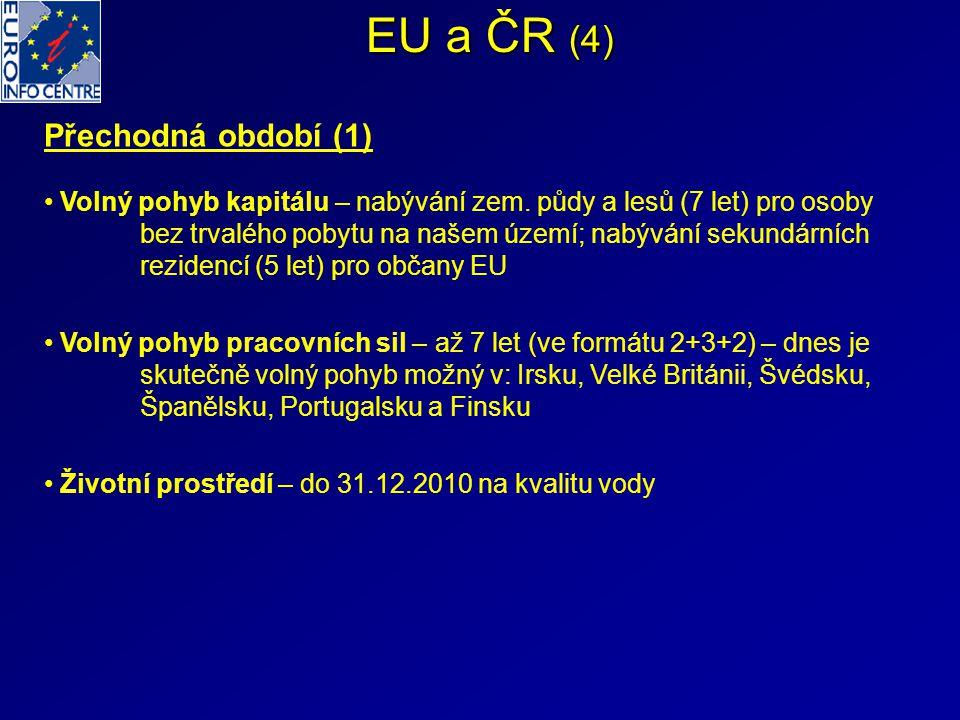 EU a ČR (4) Přechodná období (1)