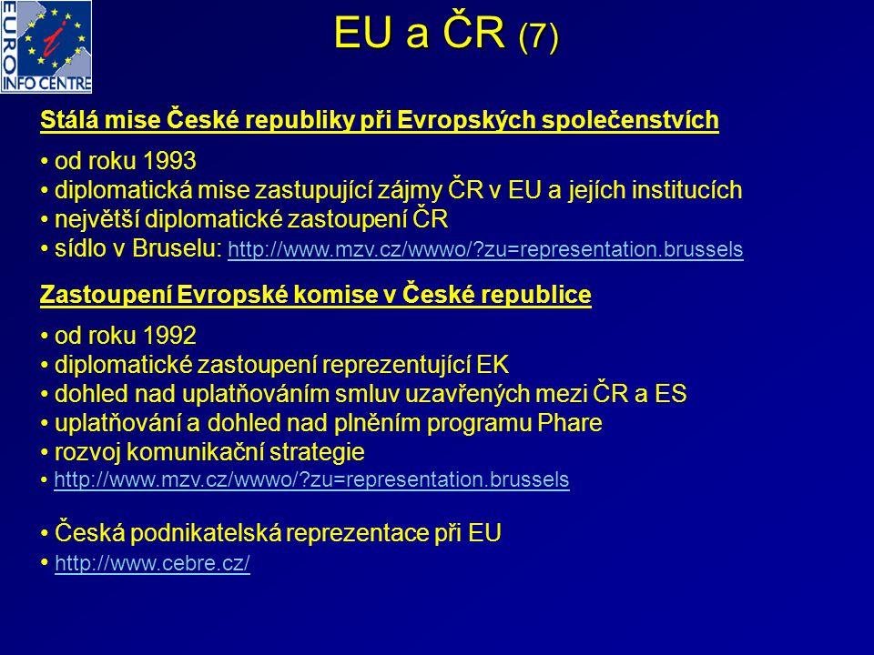 EU a ČR (7) Stálá mise České republiky při Evropských společenstvích