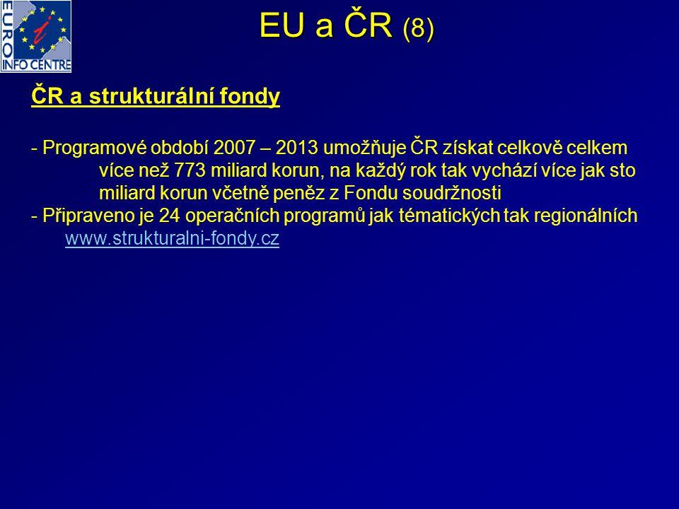 EU a ČR (8) ČR a strukturální fondy