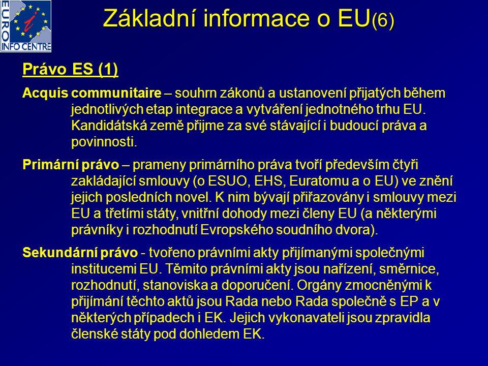 Základní informace o EU(6)