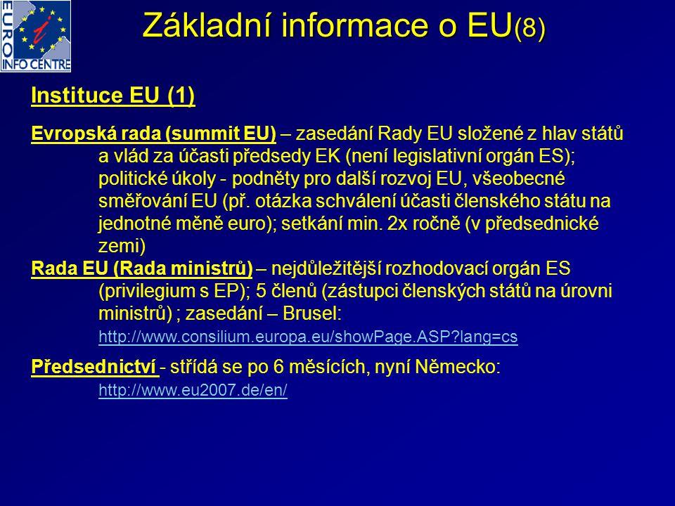 Základní informace o EU(8)