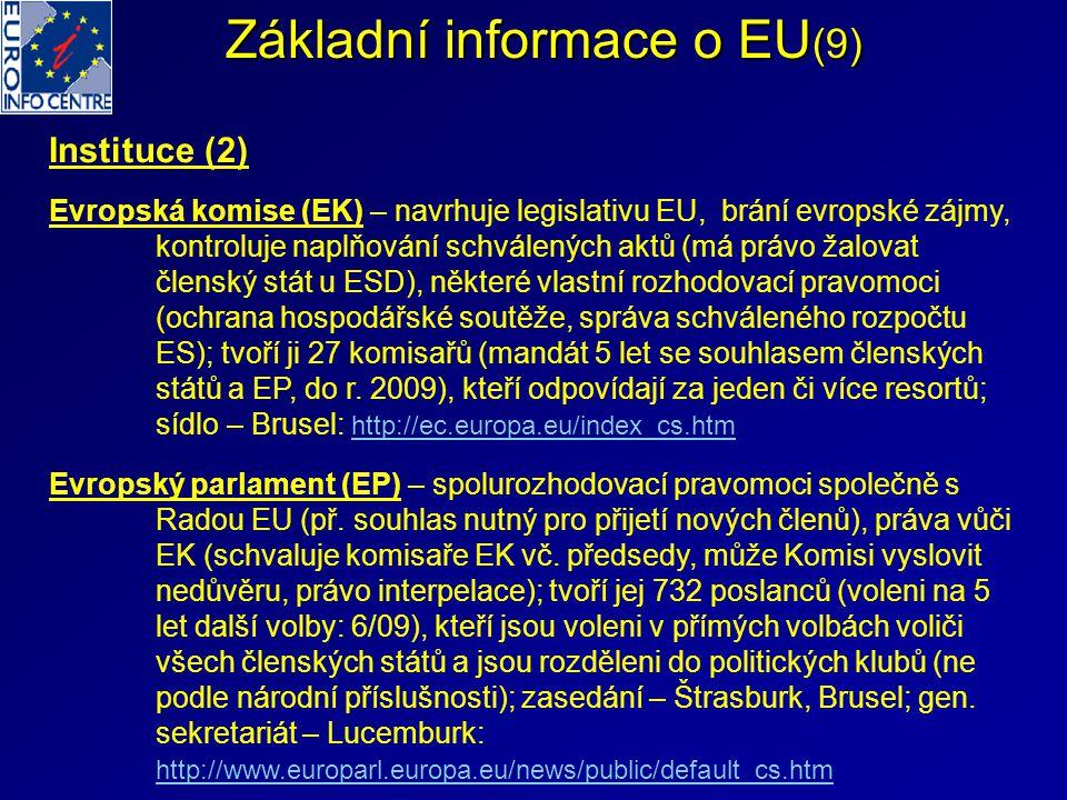 Základní informace o EU(9)