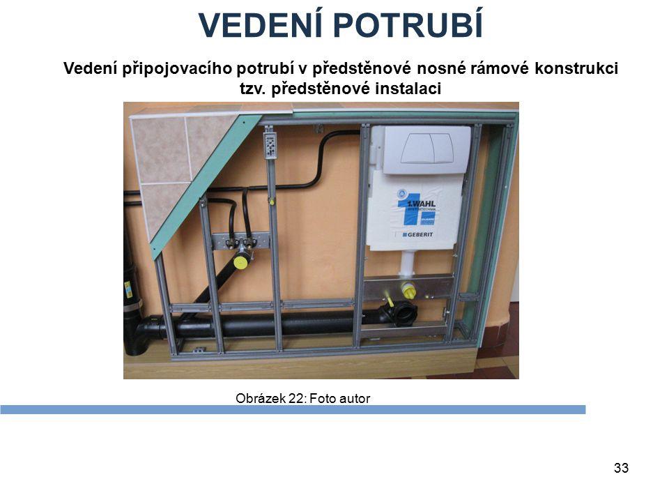 VEDENÍ POTRUBÍ Zdroje. Vedení připojovacího potrubí v předstěnové nosné rámové konstrukci tzv. předstěnové instalaci.