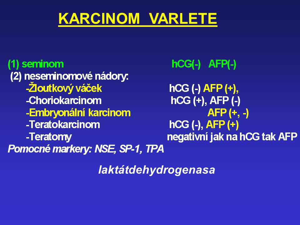 KARCINOM VARLETE laktátdehydrogenasa