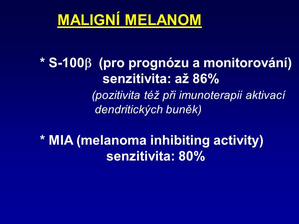 MALIGNÍ MELANOM * S-100b (pro prognózu a monitorování)