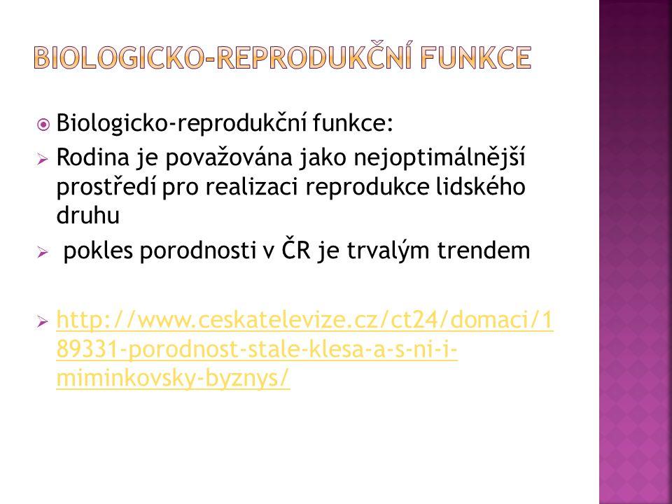 biologicko-reprodukční funkce
