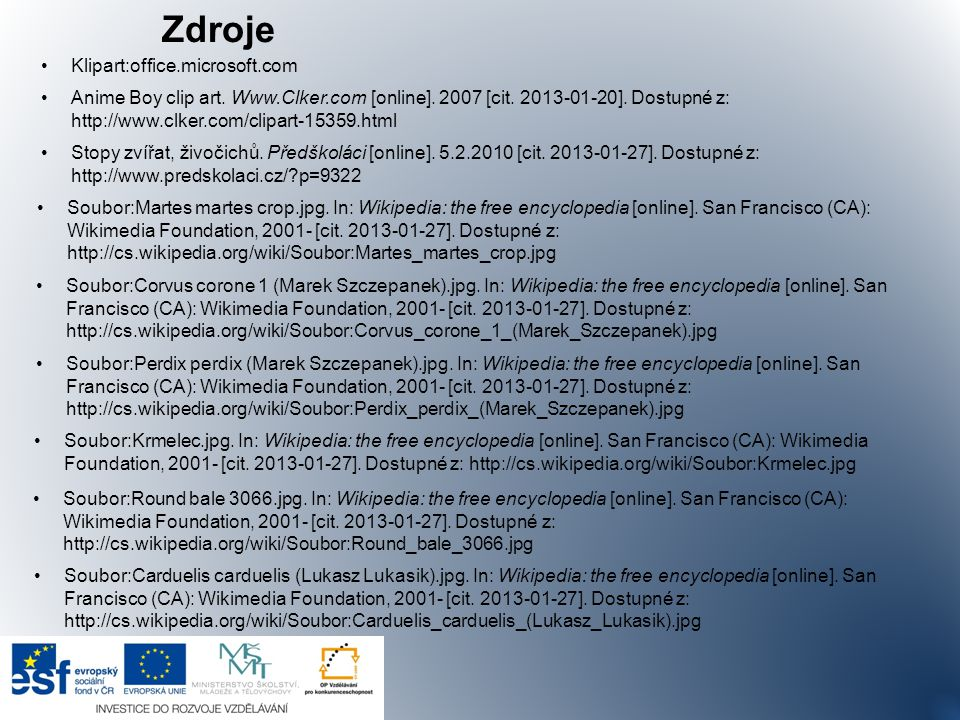 Zdroje Klipart:office.microsoft.com