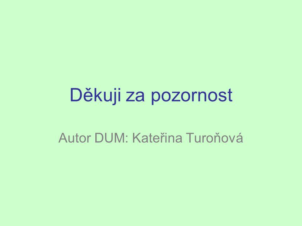 Autor DUM: Kateřina Turoňová