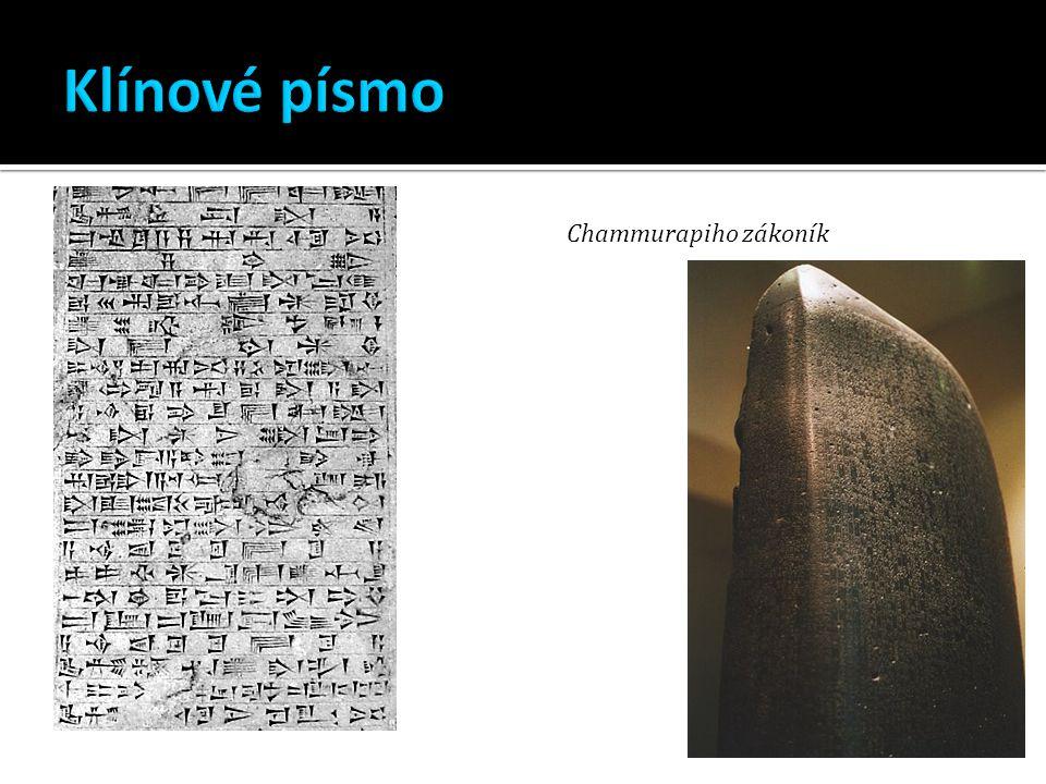Klínové písmo Chammurapiho zákoník