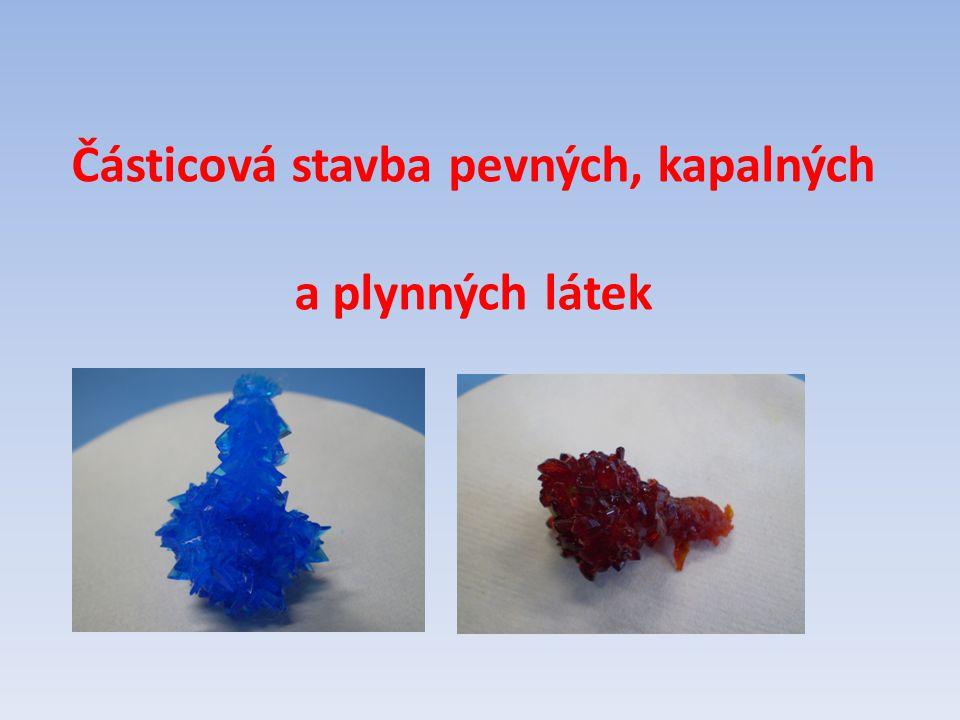 Částicová stavba pevných, kapalných a plynných látek