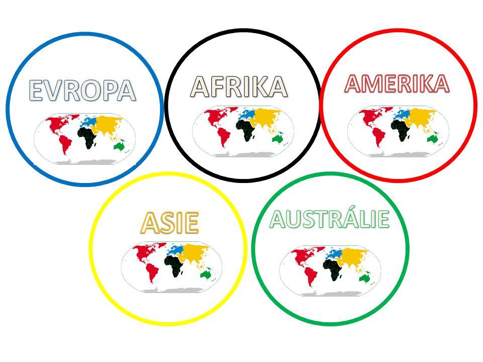 AFRIKA AMERIKA EVROPA ASIE AUSTRÁLIE