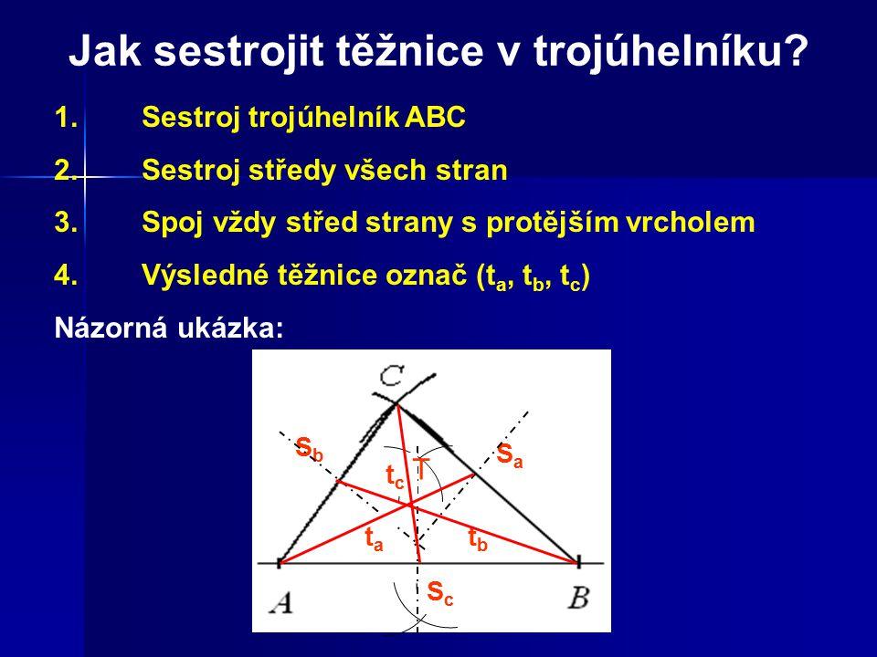Jak sestrojit těžnice v trojúhelníku