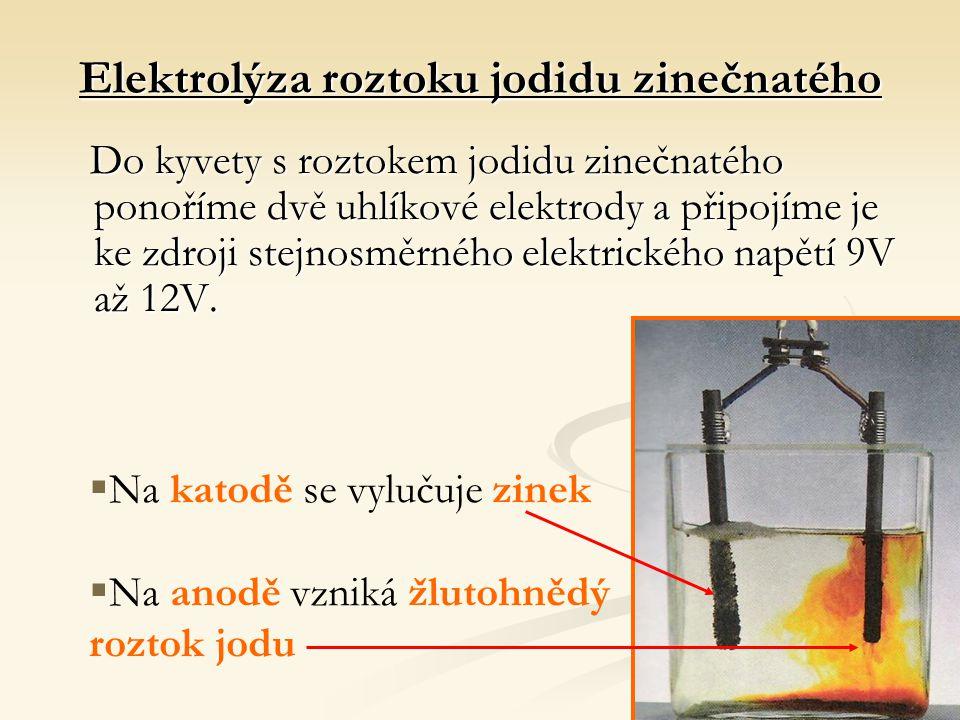 Elektrolýza roztoku jodidu zinečnatého