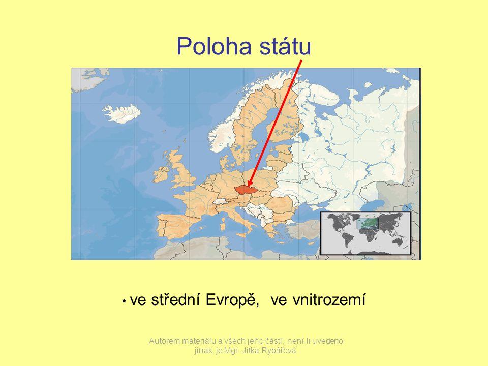 Poloha státu ve střední Evropě, ve vnitrozemí