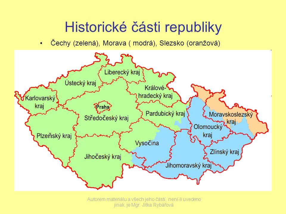 Historické části republiky
