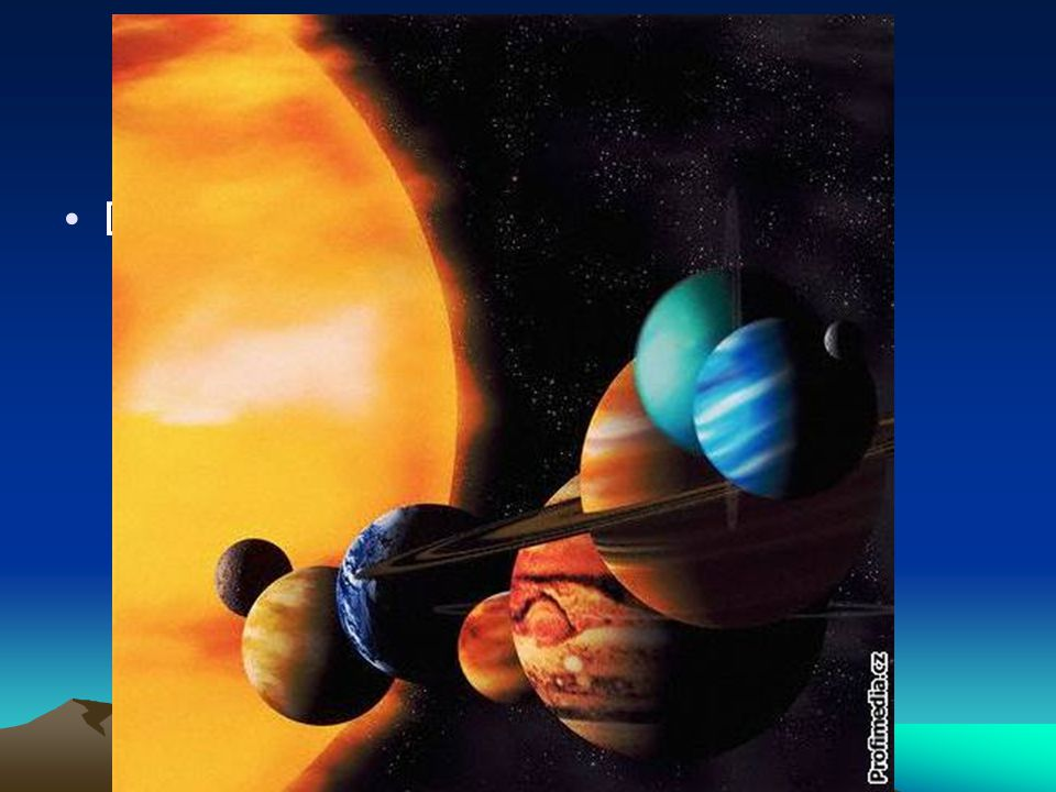 Planety sluneční soustavy - opakování
