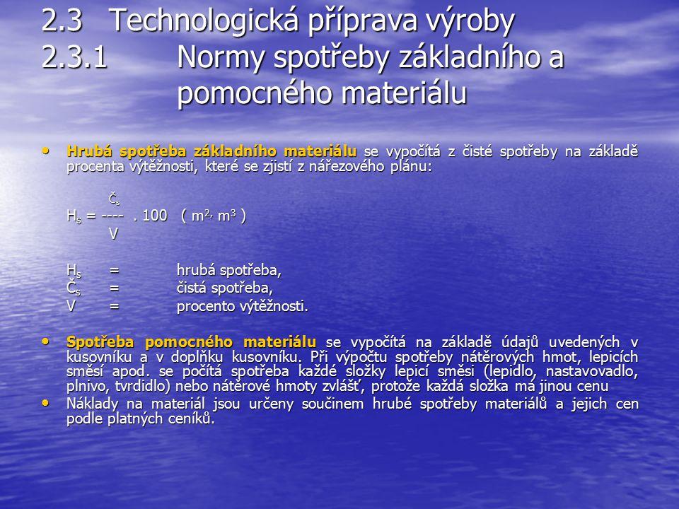 2. 3. Technologická příprava výroby 2. 3. 1