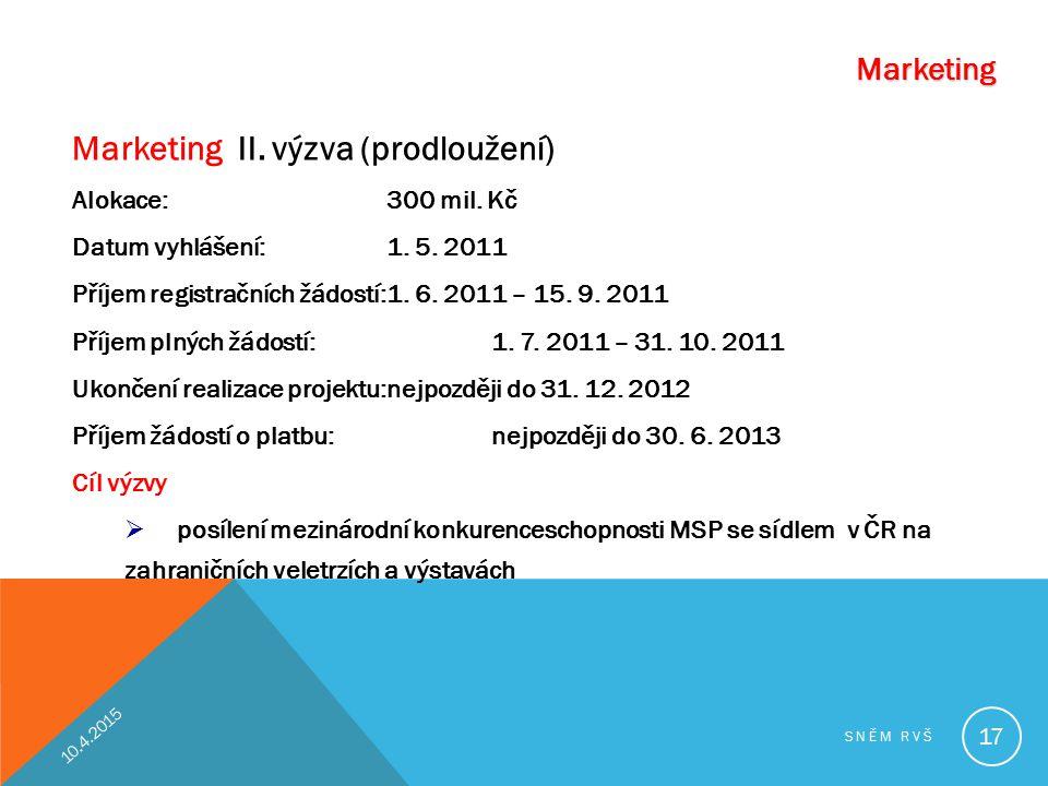 Marketing II. výzva (prodloužení)