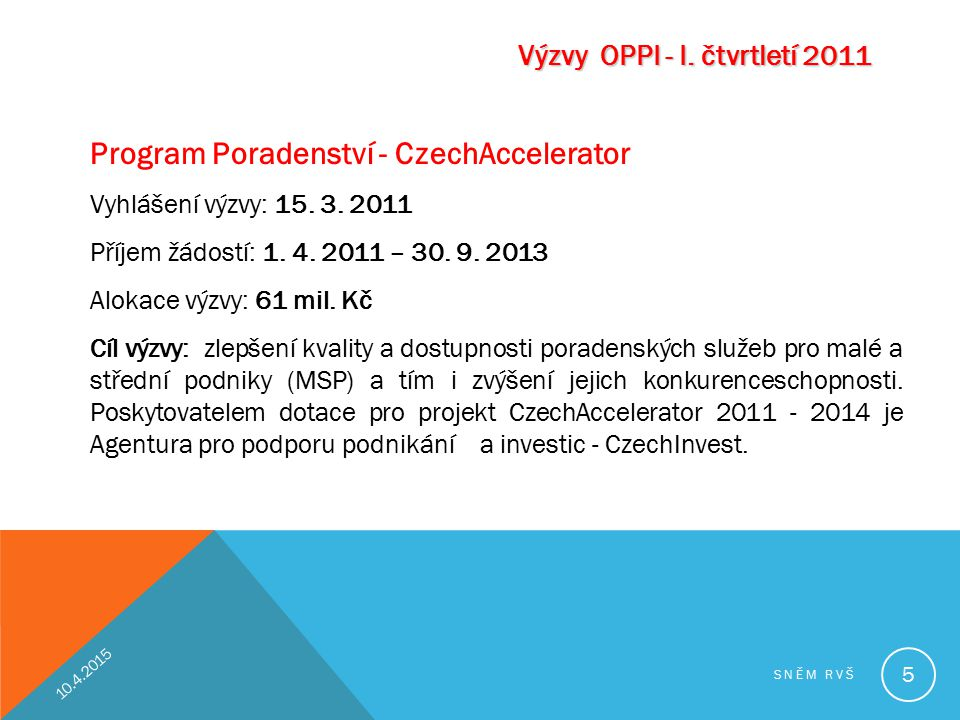 Program Poradenství - CzechAccelerator