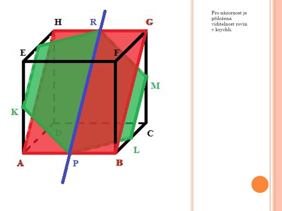 Pro názornost je přiložena viditelnost rovin v krychli.