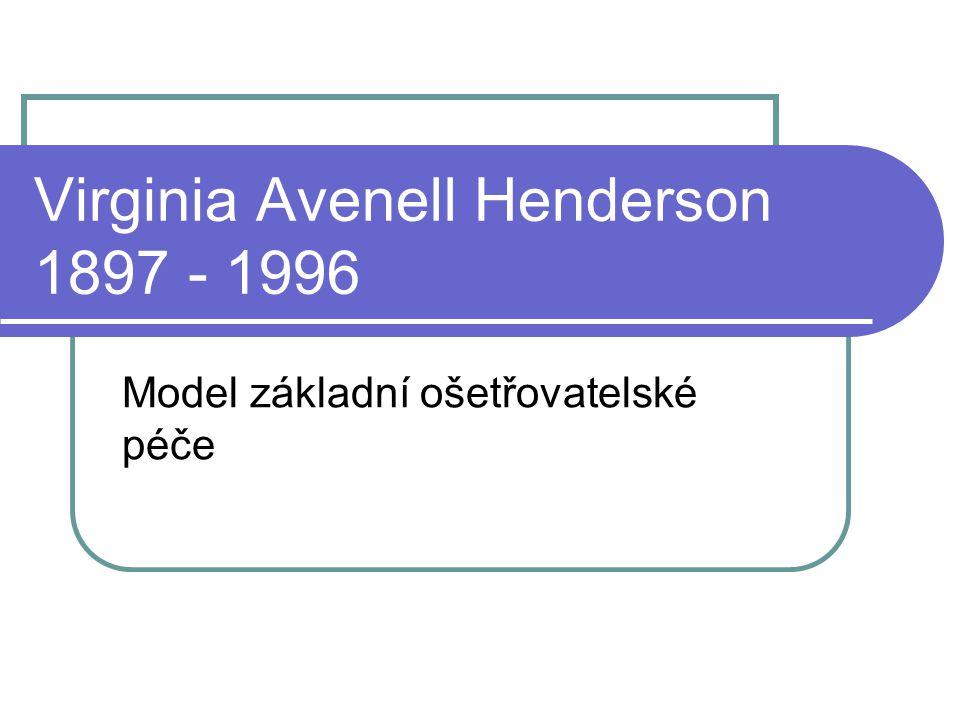 Virginia Avenell Henderson 1897 - 1996
