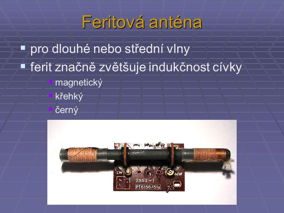 Feritová anténa pro dlouhé nebo střední vlny