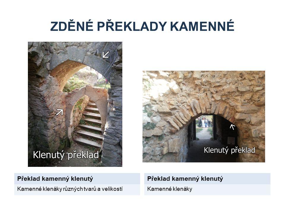 Zděné překlady kamenné