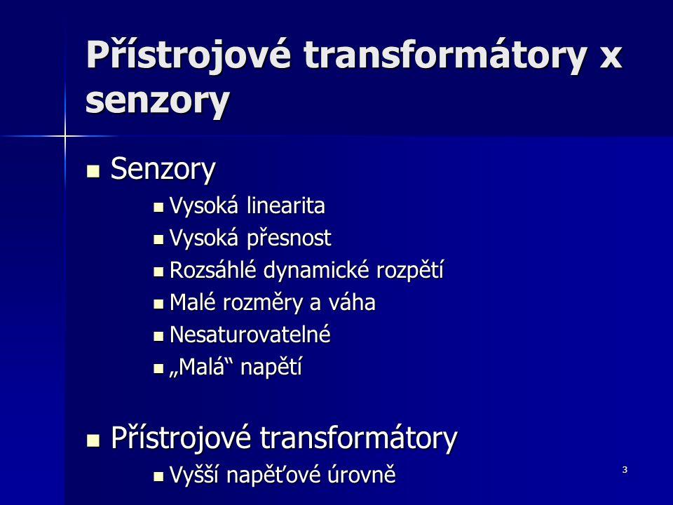 Přístrojové transformátory x senzory