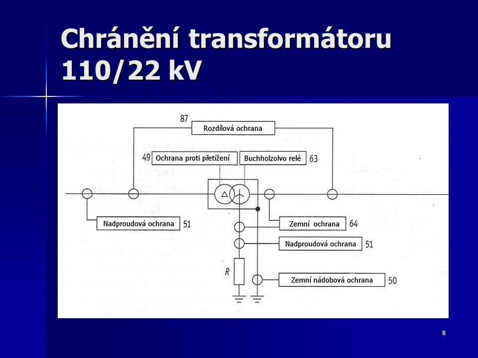 Chránění transformátoru 110/22 kV