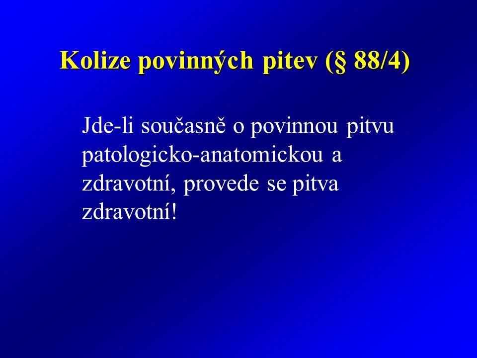 Kolize povinných pitev (§ 88/4)