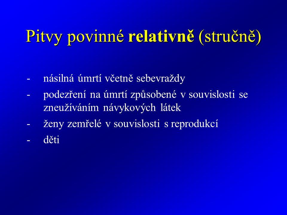 Pitvy povinné relativně (stručně)