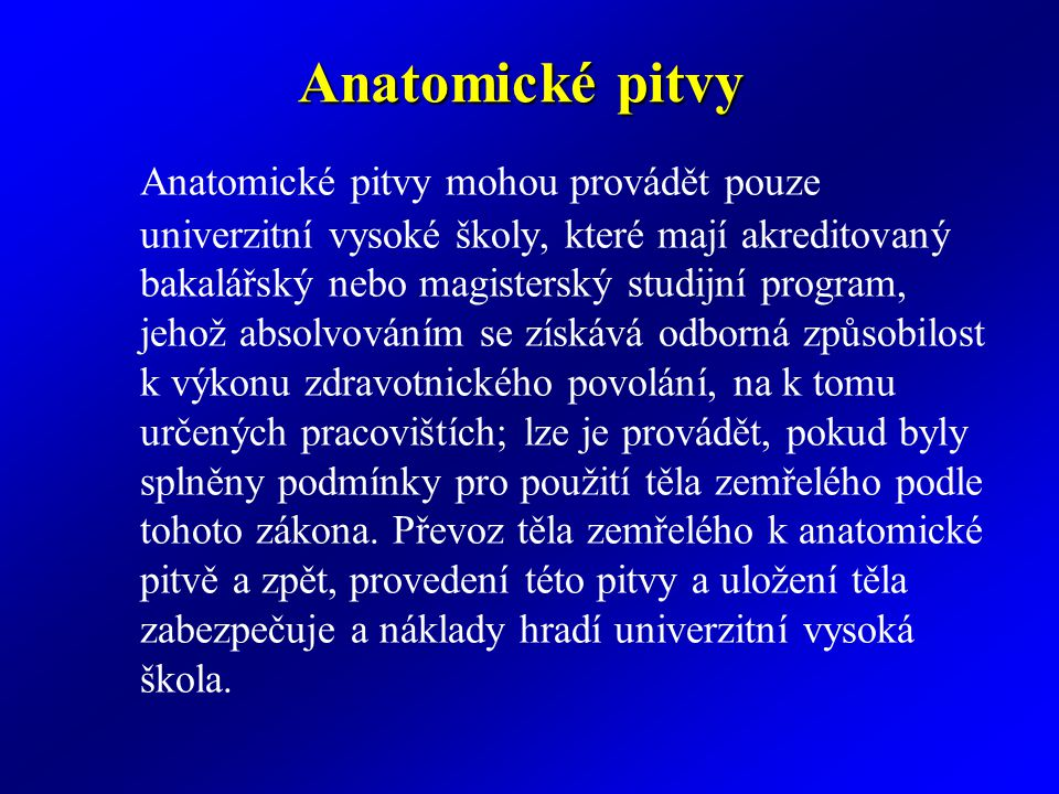 Anatomické pitvy