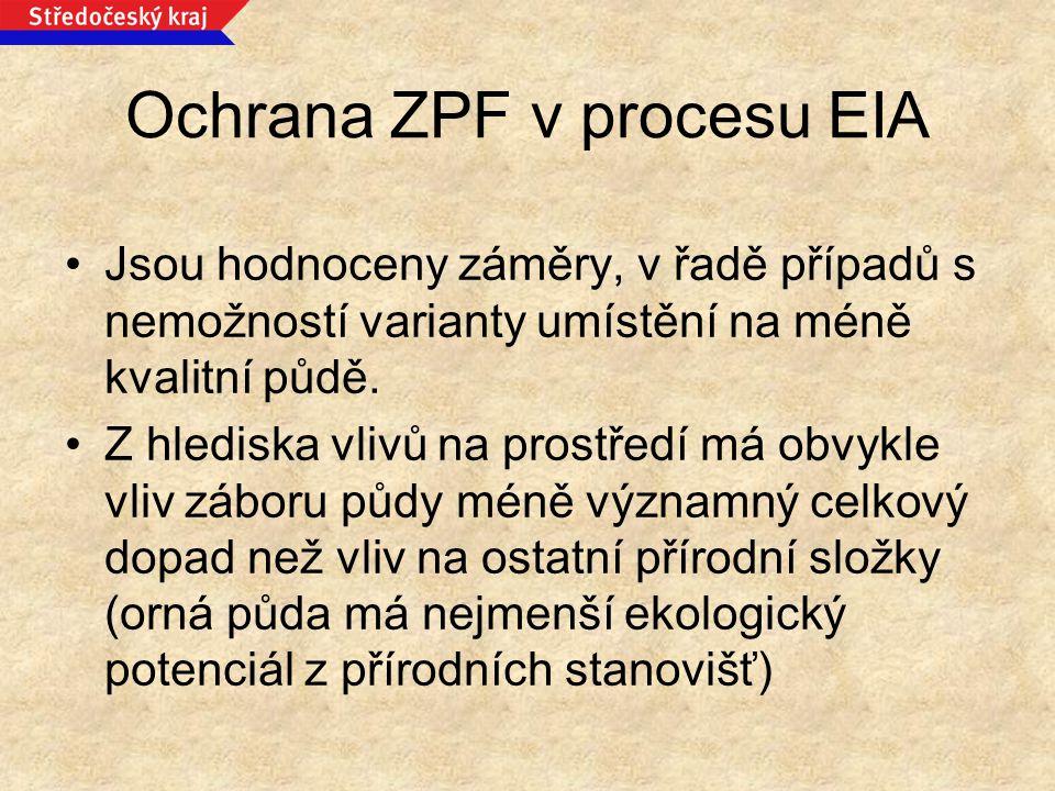 Ochrana ZPF v procesu EIA
