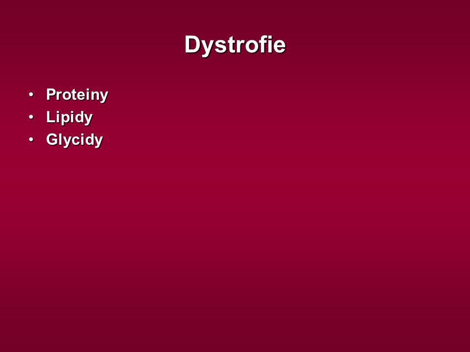 Dystrofie Proteiny Lipidy Glycidy