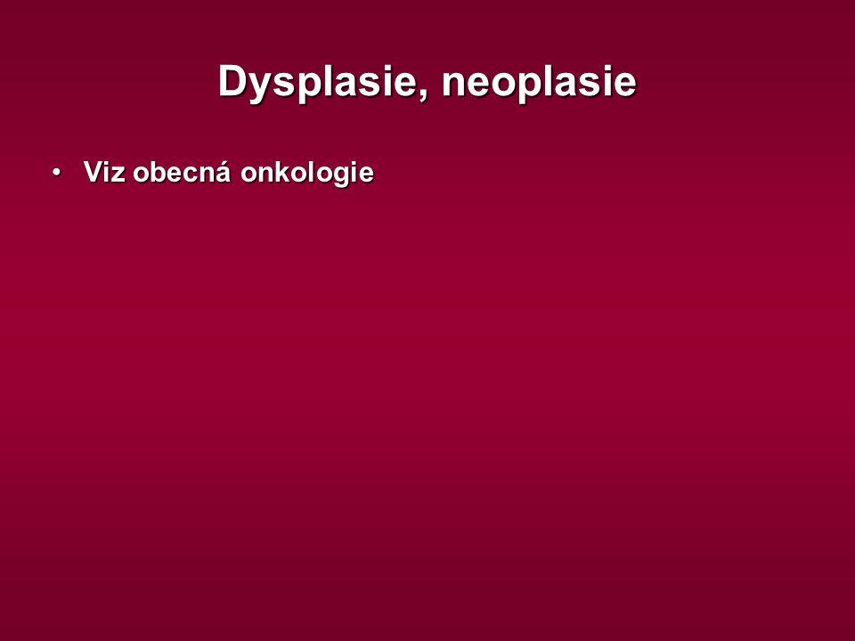 Dysplasie, neoplasie Viz obecná onkologie