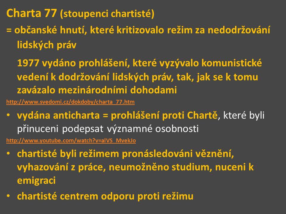 Charta 77 (stoupenci chartisté)