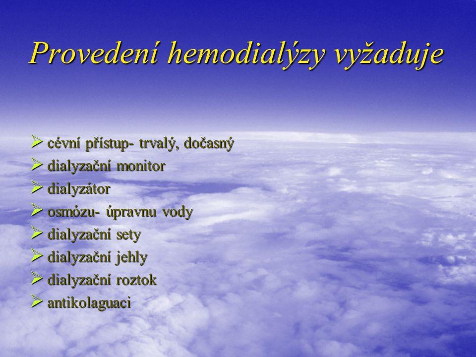 Provedení hemodialýzy vyžaduje